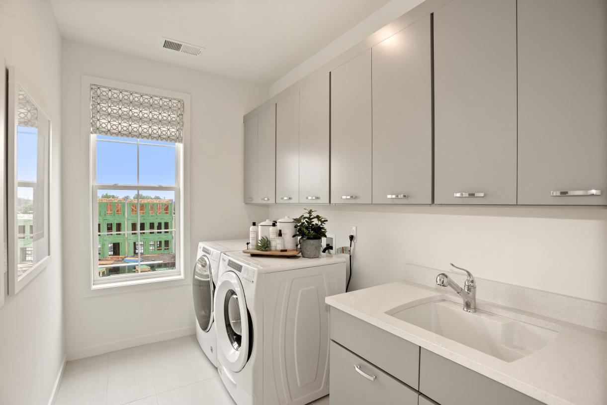 Easy bedroom level laundry