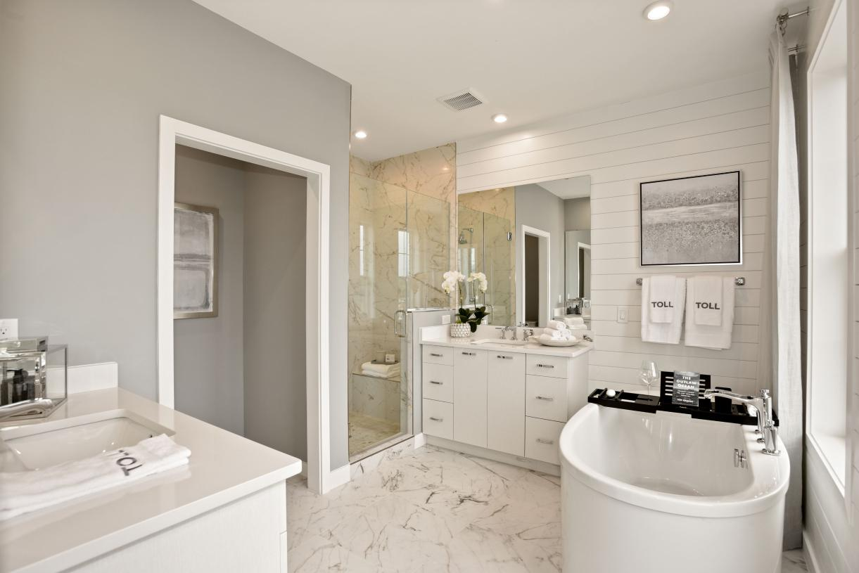 Primary bath shown with the luxurious primary bath package