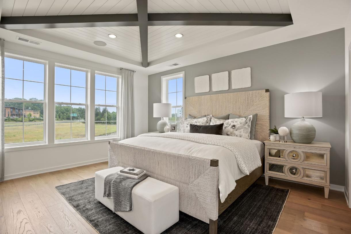 Elegant primary bedroom suite
