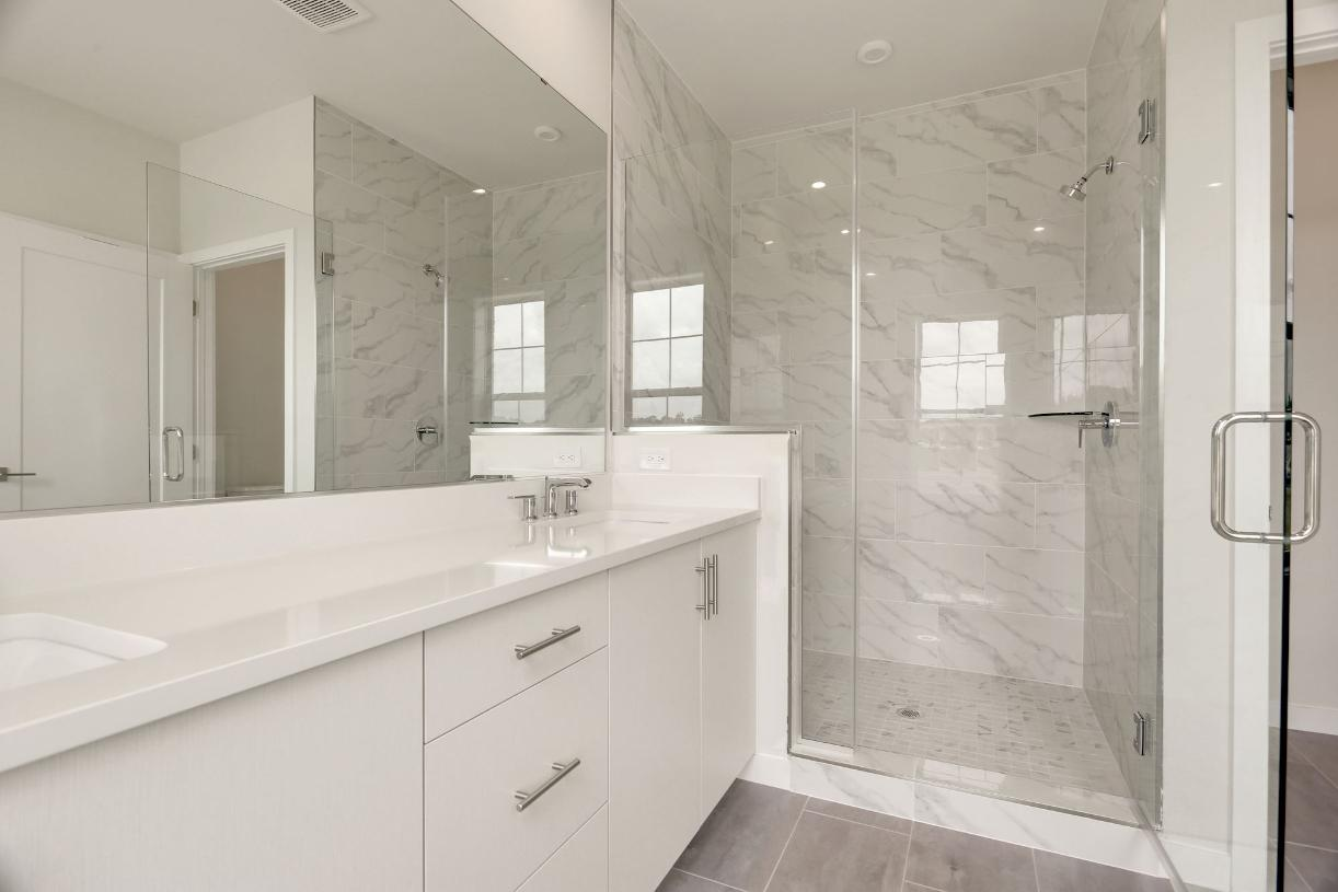 Primary bath walk-in shower