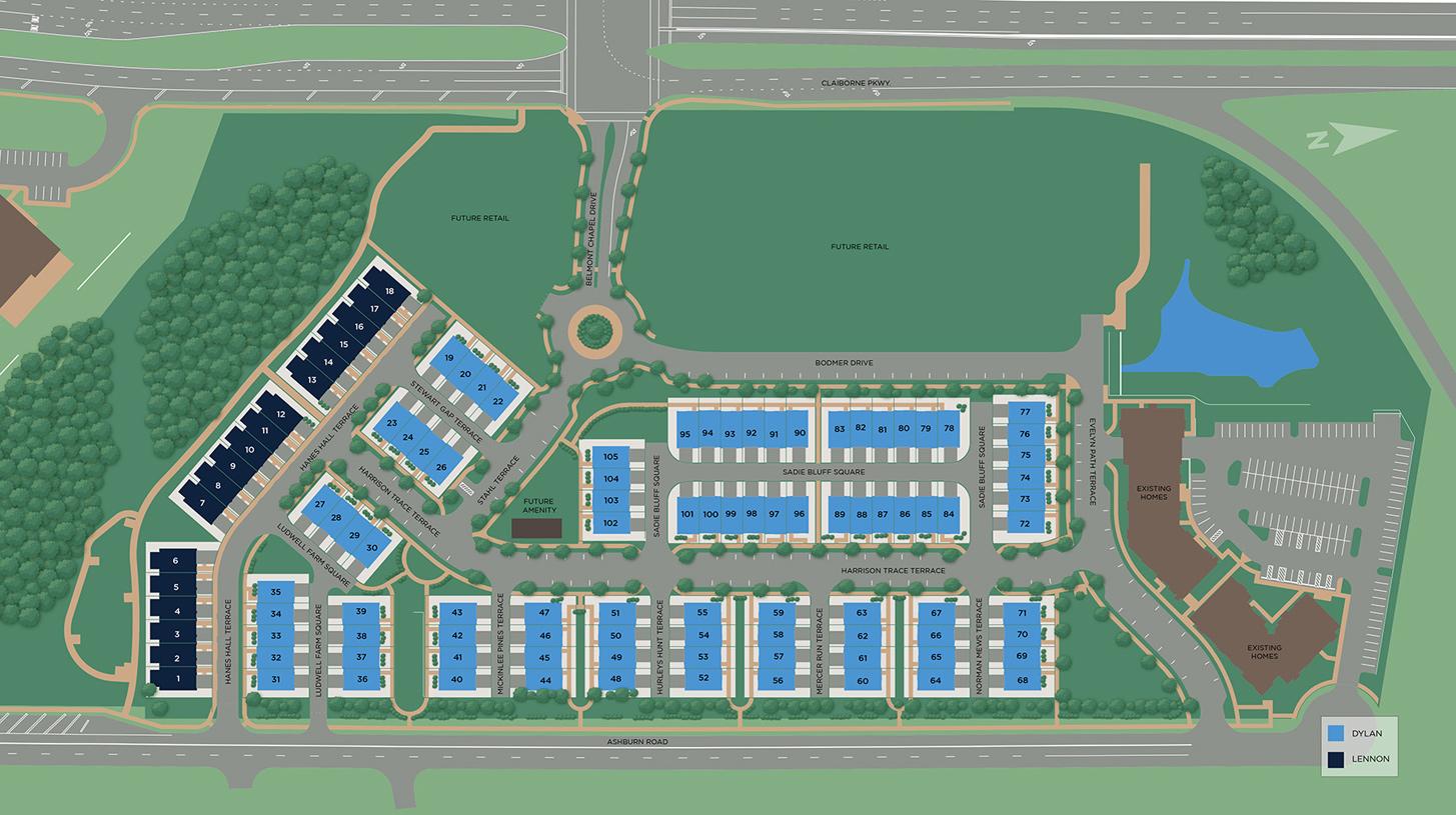 Regency at Belmont Site Plan