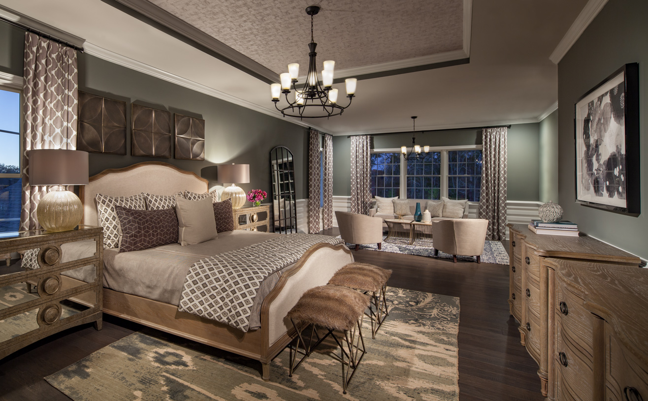 Primary bedroom suite with a primary retreat