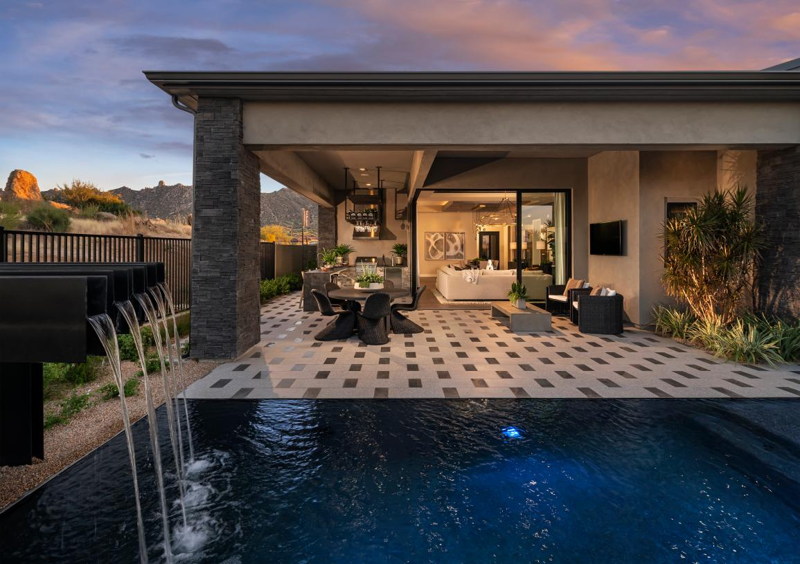 Seamless indoor-outdoor living in a serene Sonoran Desert setting
