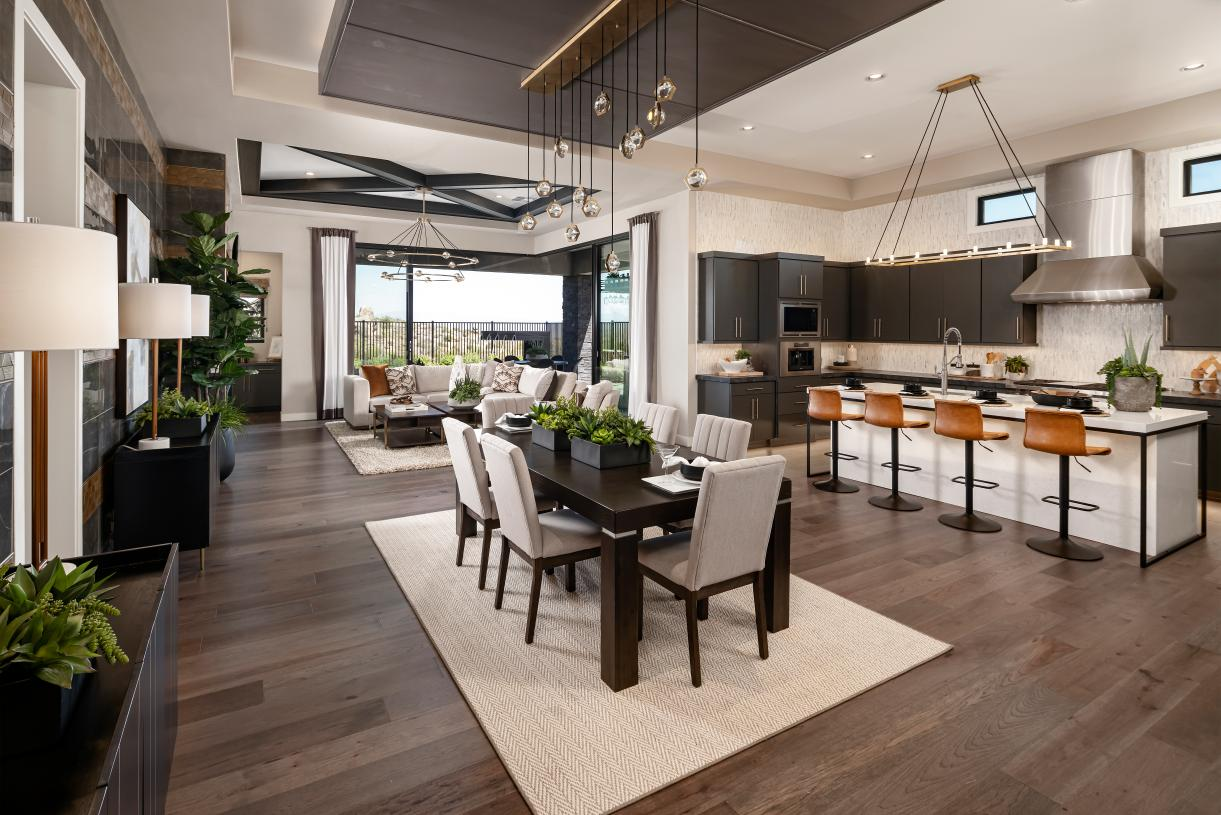 Stunning single-level floor plan flows seamlessly to outdoor living space