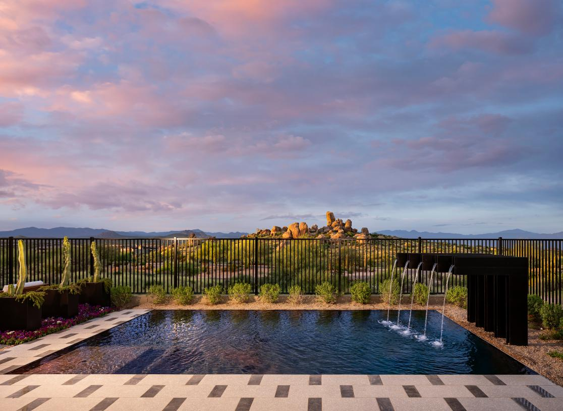 Resort-style pool with extraordinary mountain views