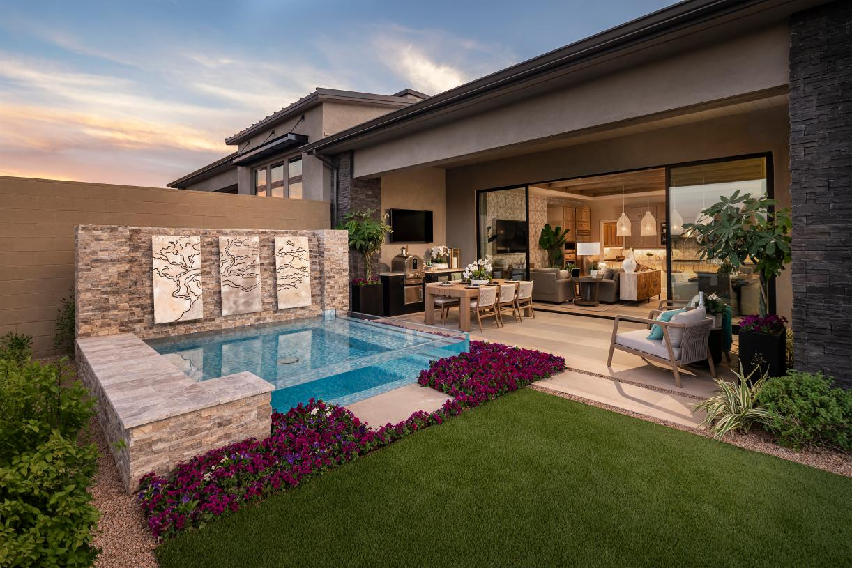 Seamless indoor-outdoor living provides ideal space for entertaining