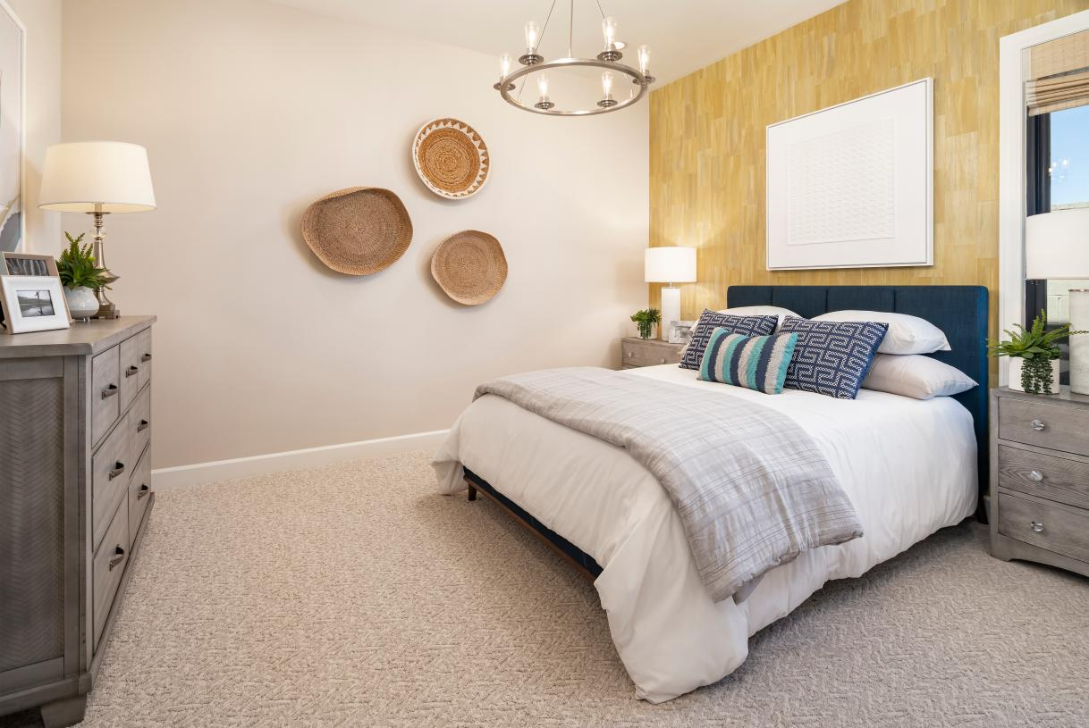 Spacious secondary bedroom with private bath and large walk-in closet