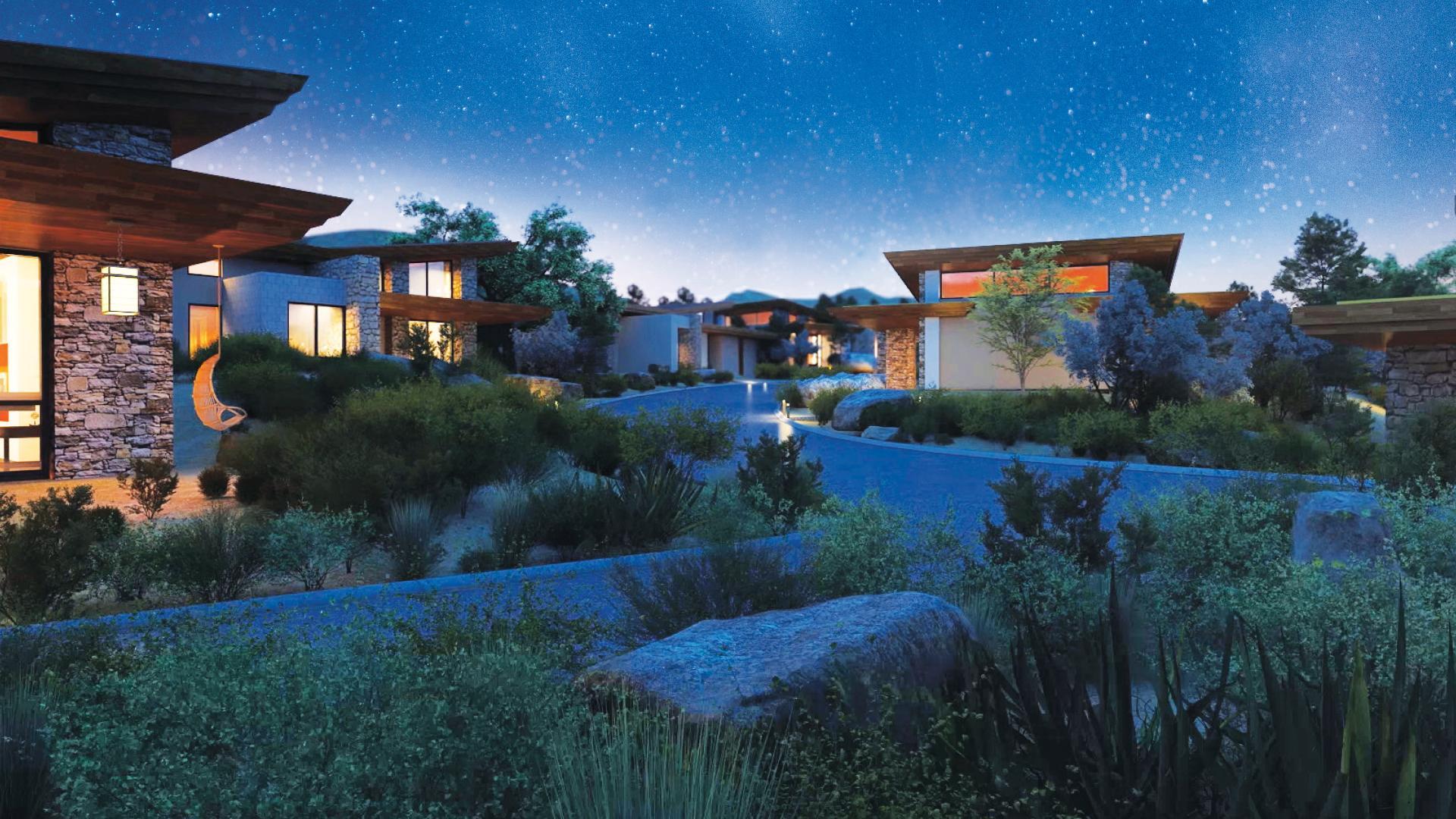 Distinct architecture in a serene Sonoran Desert setting