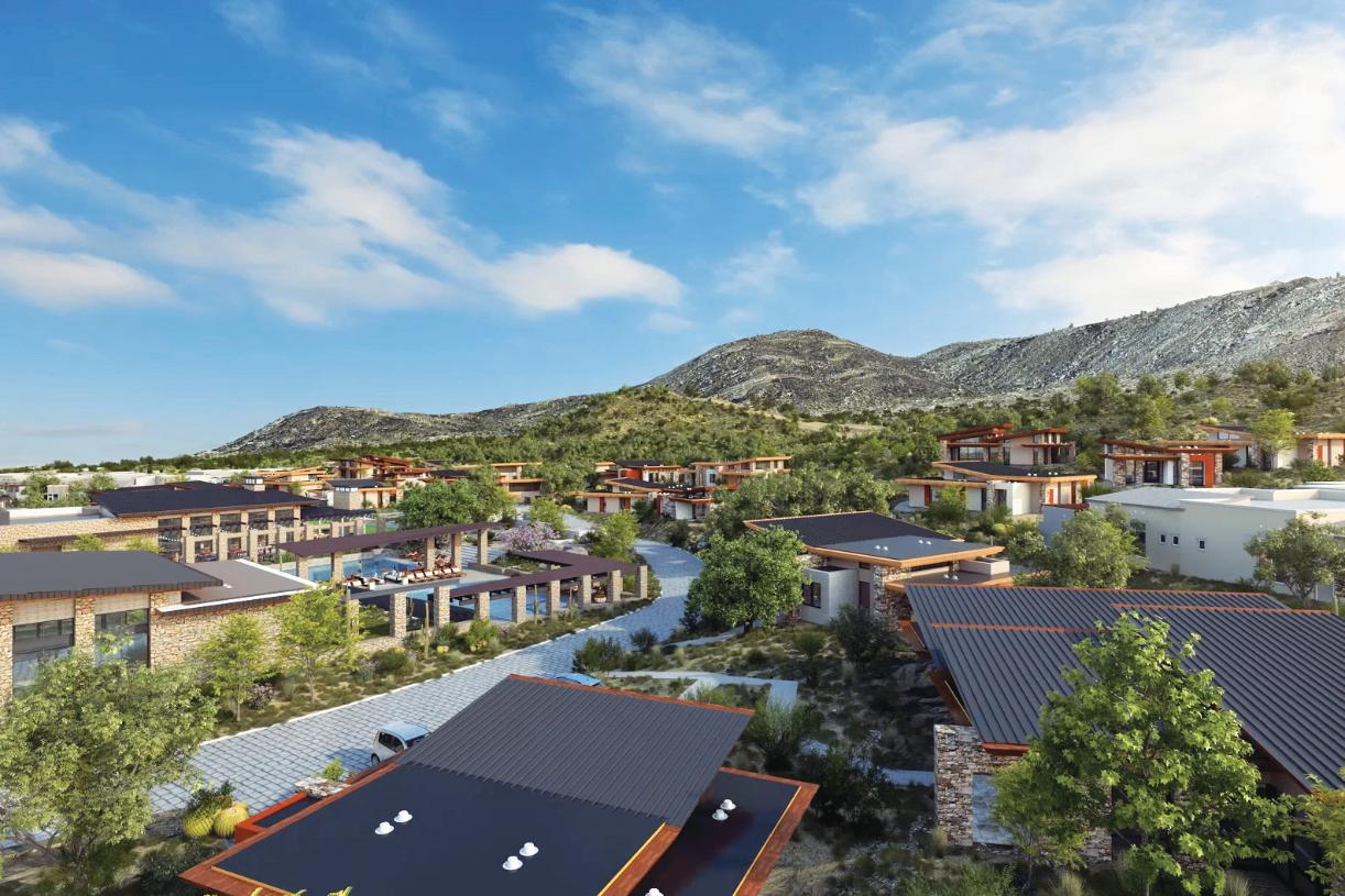 Resort-style amenities include beautiful pools, outdoor gathering spaces, and more