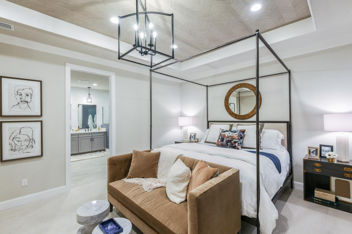 Expansive primary bedroom suites