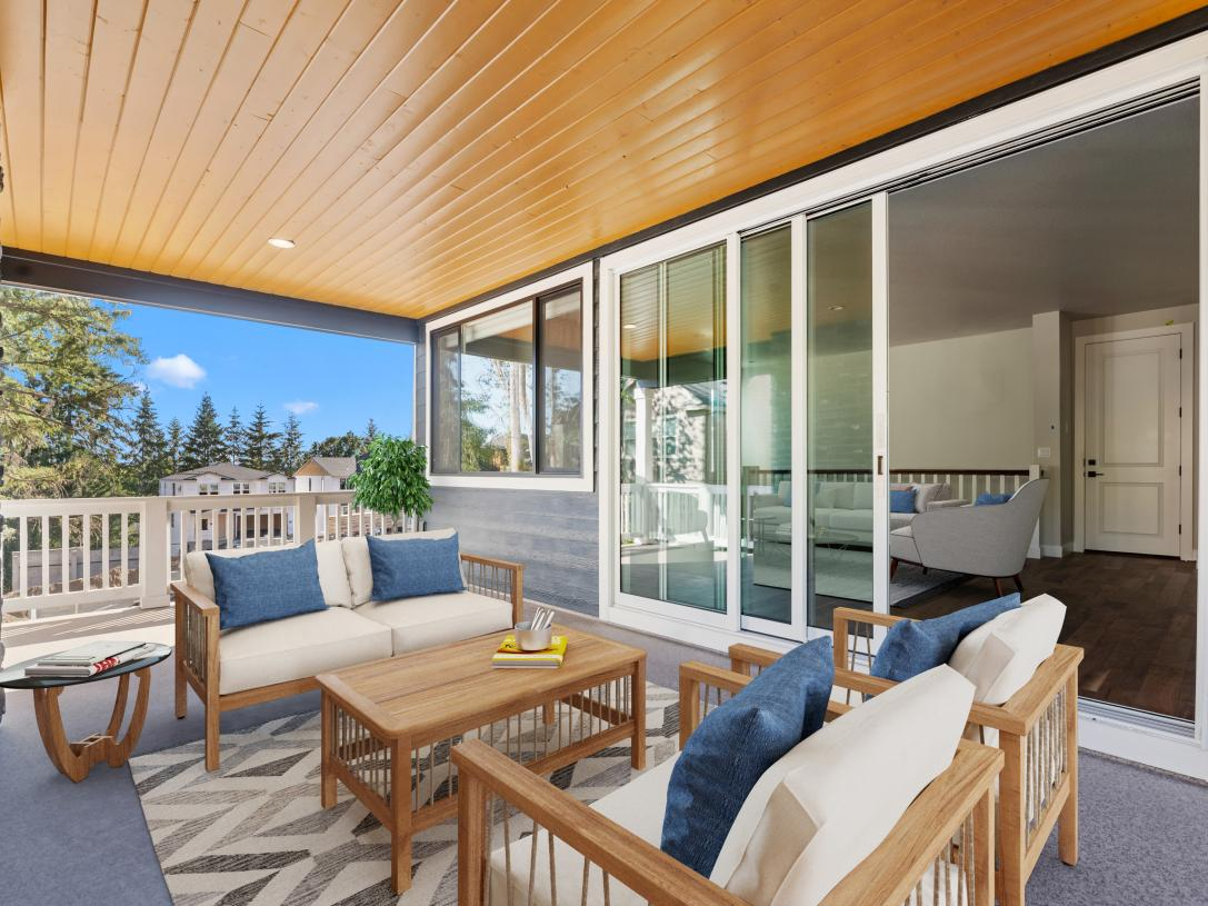 Optional covered outdoor living on the Siletz home