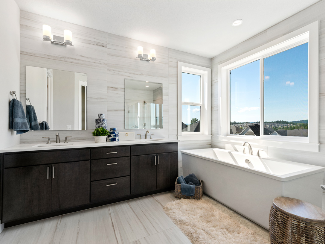 Sophisticated elegance of the Sprague primary bath