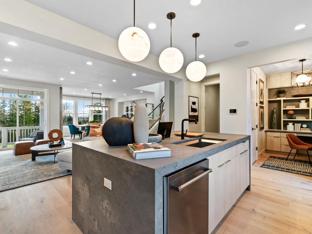 Open-concept floor plan is an entertainer's dream