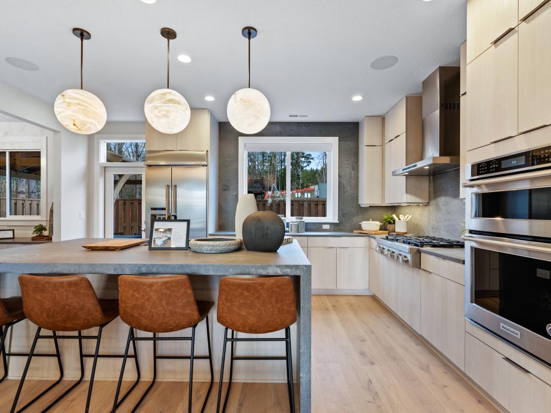Well designed kitchen offers plenty of storage space