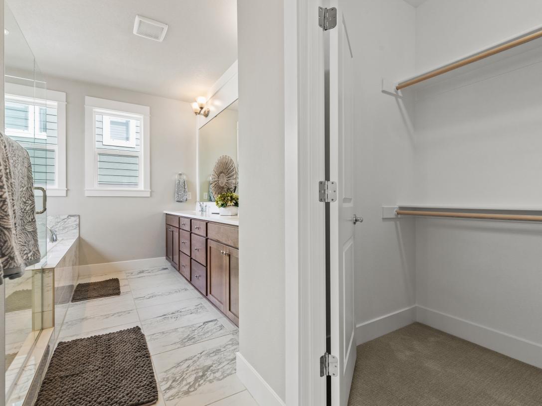 (Representative photo) Primary bathroom and closet