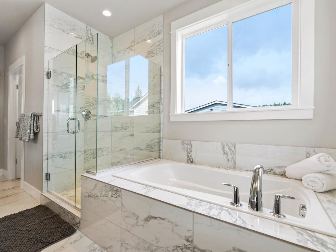 (Representative photo) Primary soaking tub and separate shower