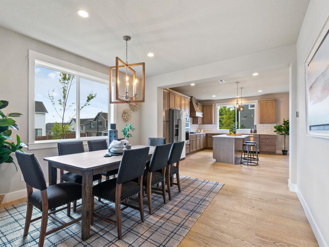 (Representative photo) Spacious dining room and kitchen