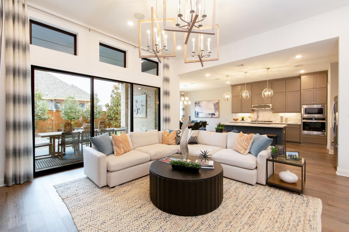 Desirable open floor plan makes for easy entertaining