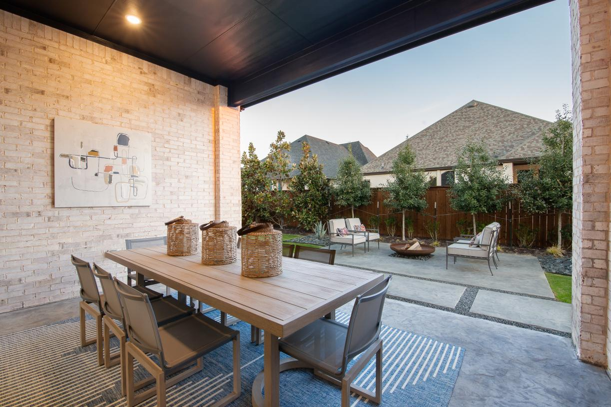 Covered porch is great for outdoor living