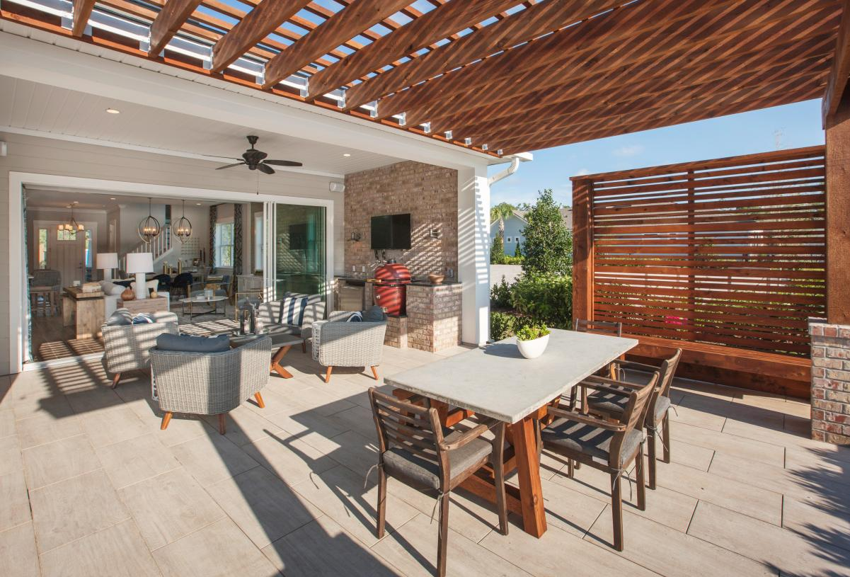 Enjoy a variety of outdoor living options