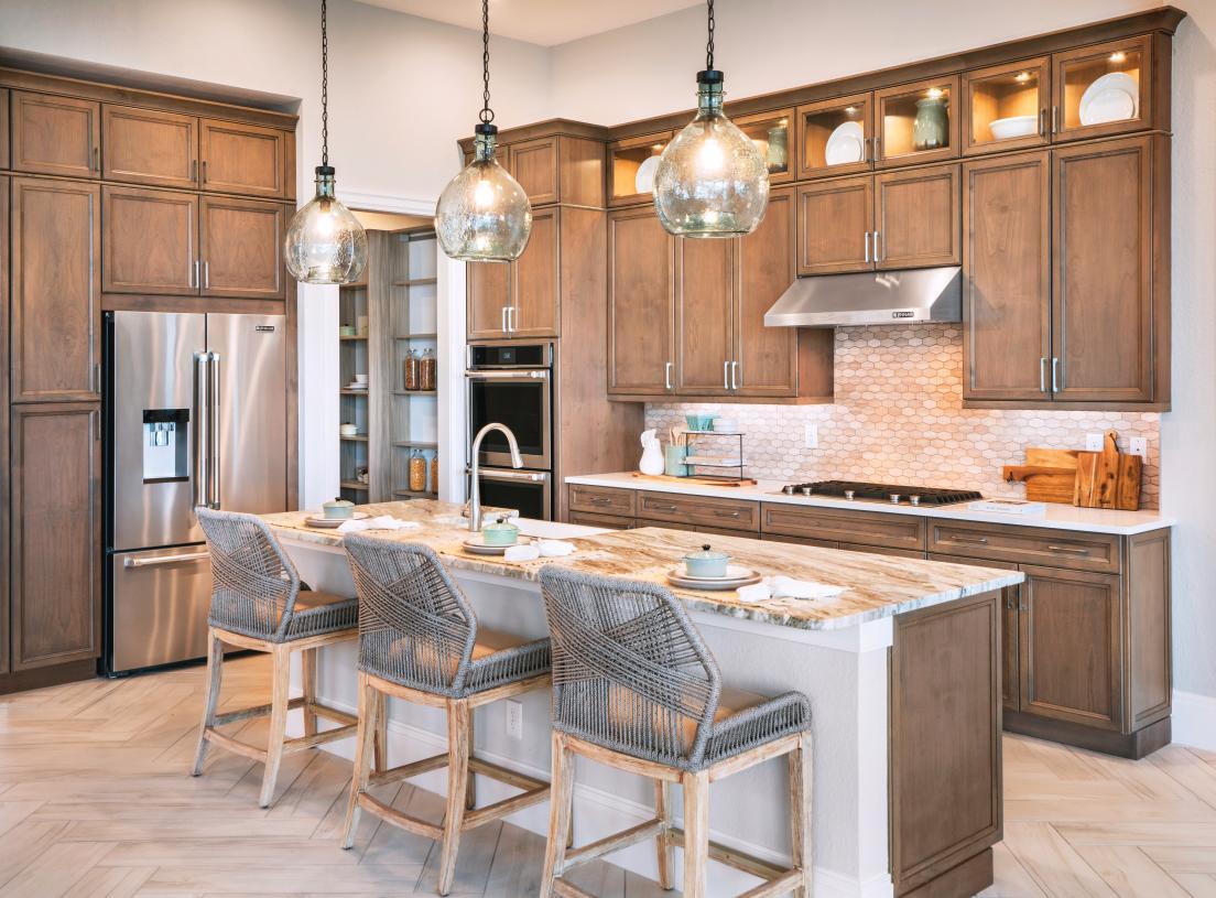 Well-designed kitchens with abundant storage