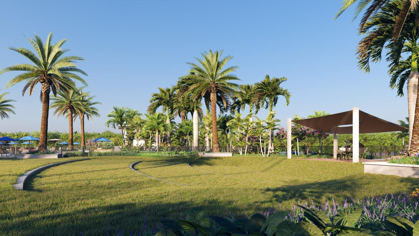 Enjoy a variety of events and social activities on The Green, the future community amphitheater