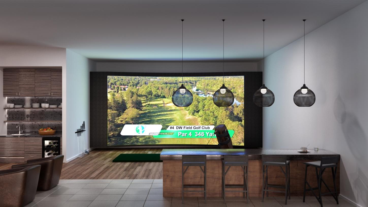 Practice your game at Tee Up, the future indoor golf simulator