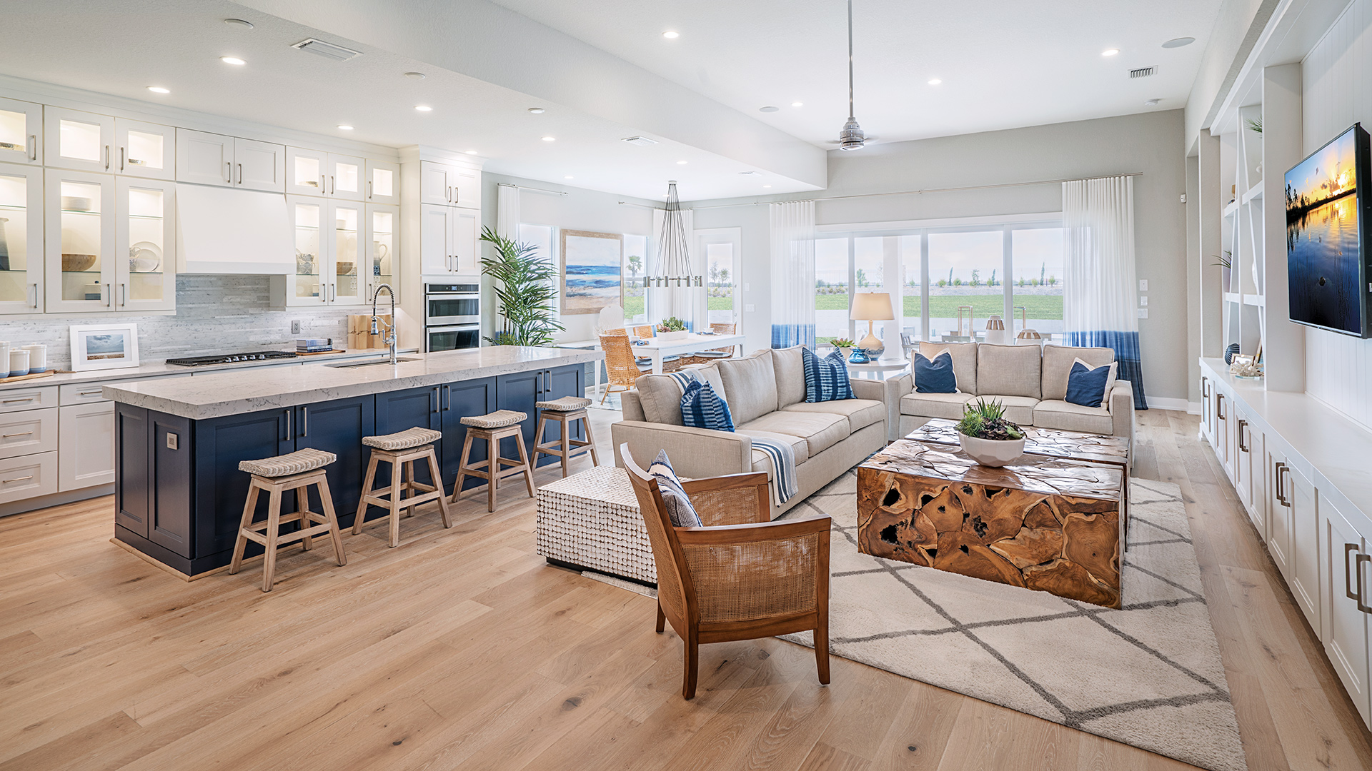 Open floor plans provide spacious living options