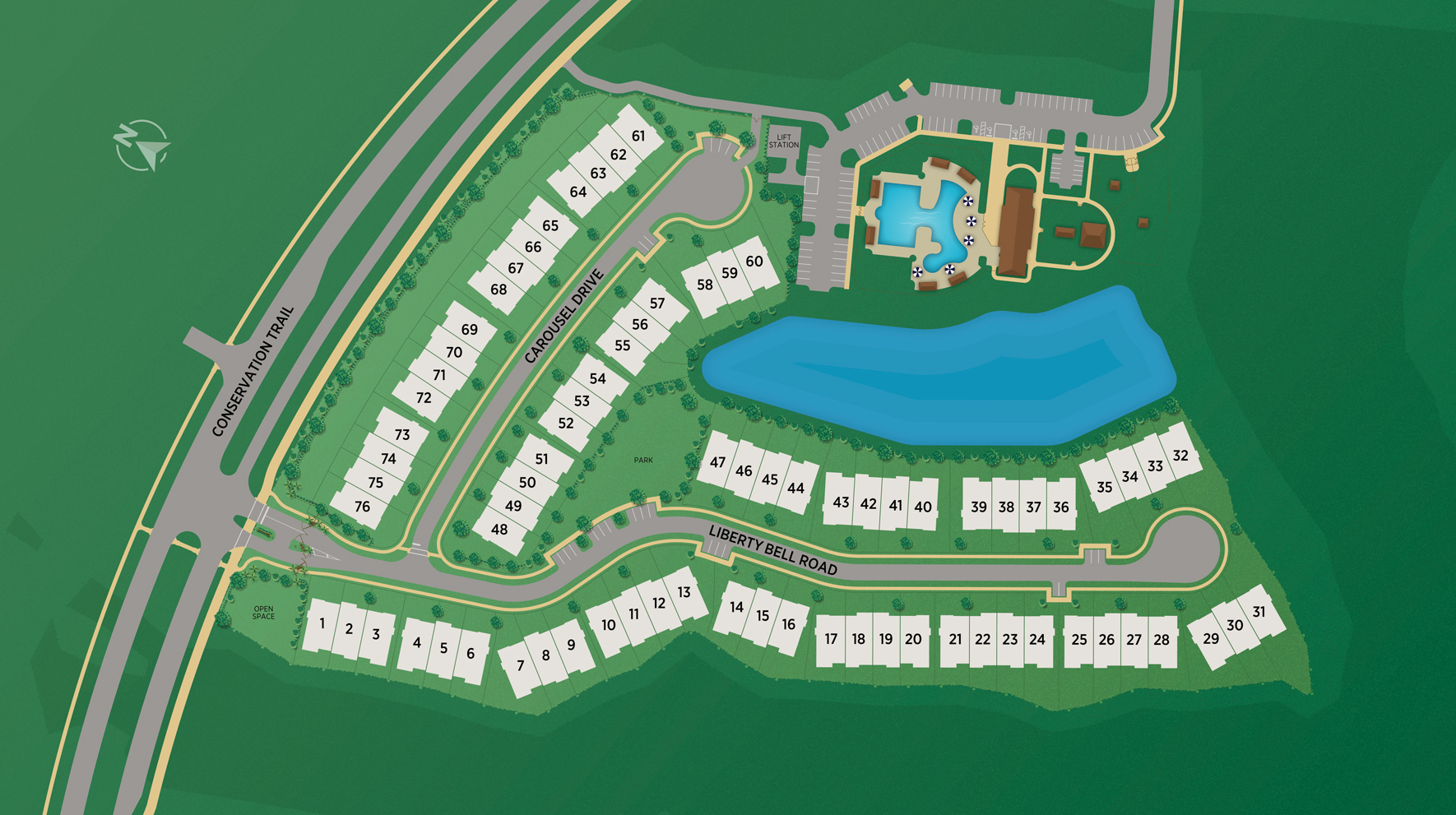 Franklin Square at Crosswater Site Plan