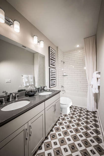 Well-designed secondary bathrooms