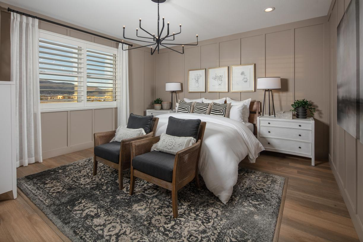 Luxurious master suite with spacious bathroom