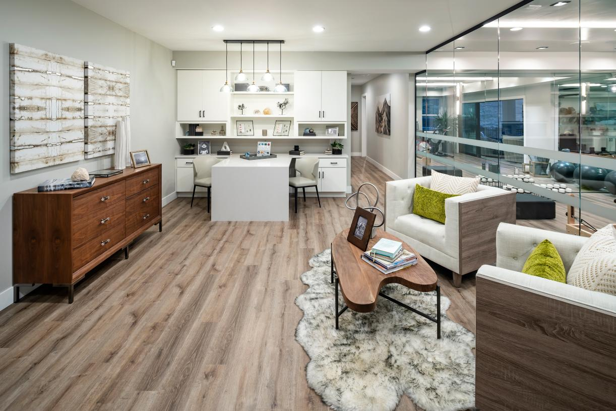 Optional finished basements with personalization possibilities