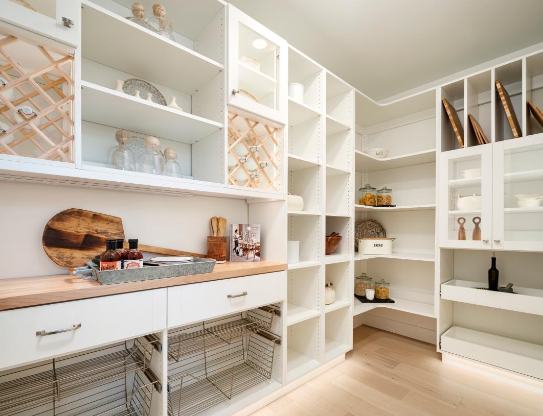 Huge walk-in pantries and storage space