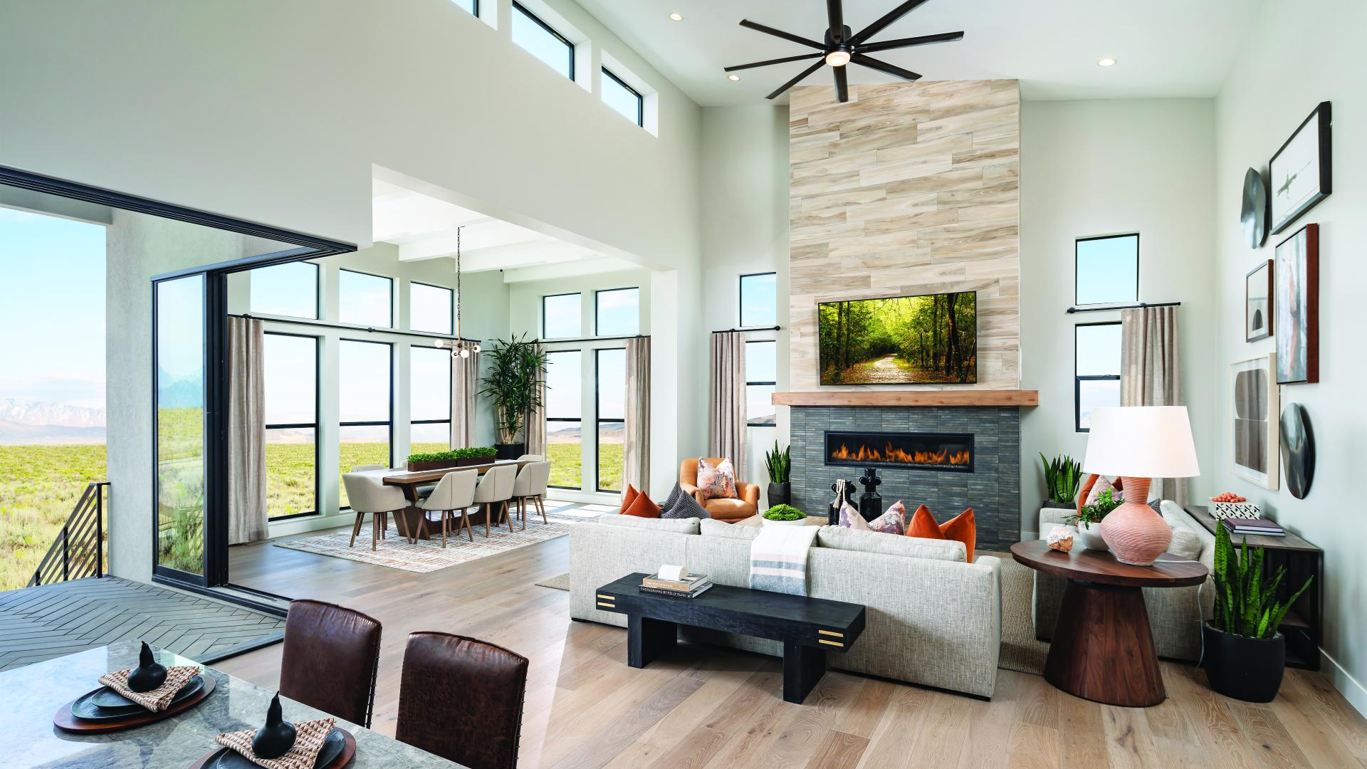 Open-concept great room for entertaining