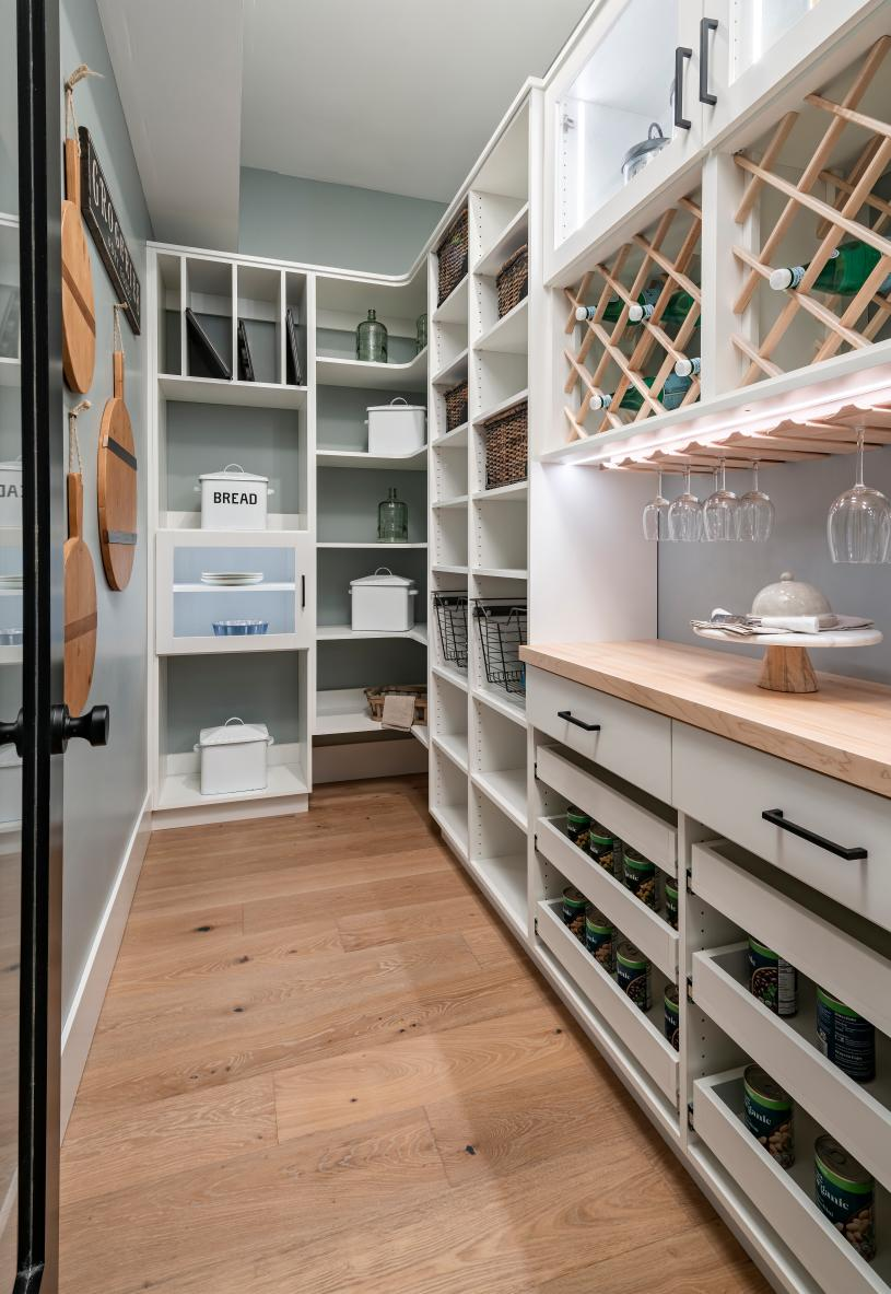 Huge walk-in pantry with ample storage space