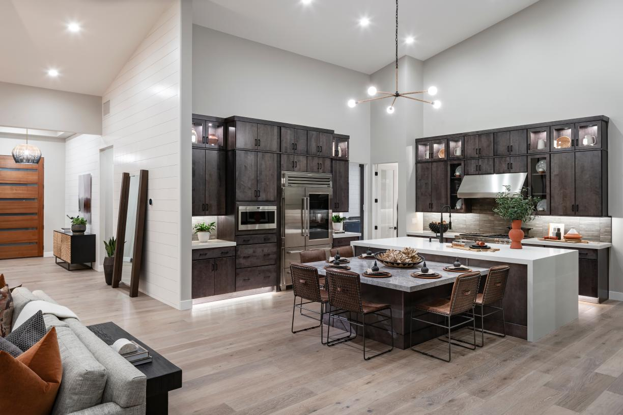 Stunning kitchen with ample countertop and cabinet space