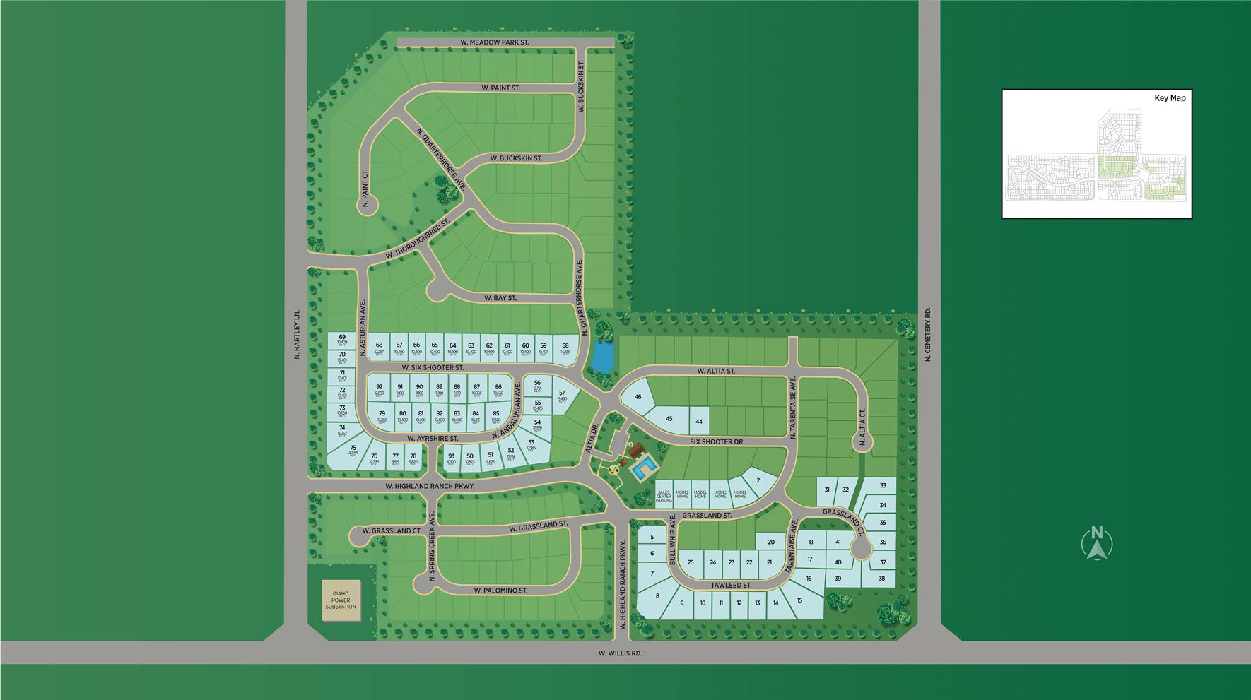 Meadows at West Highlands - Woodland Estates Site Plan