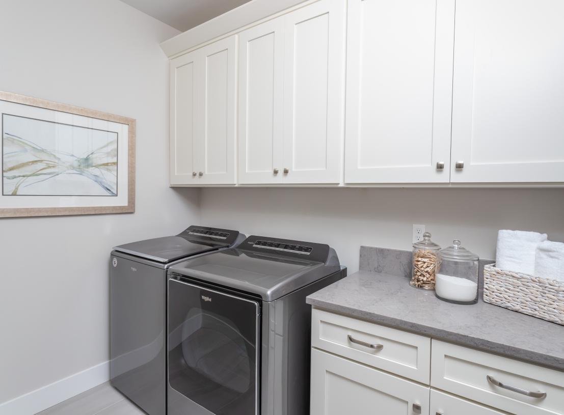 Ample laundry room storage