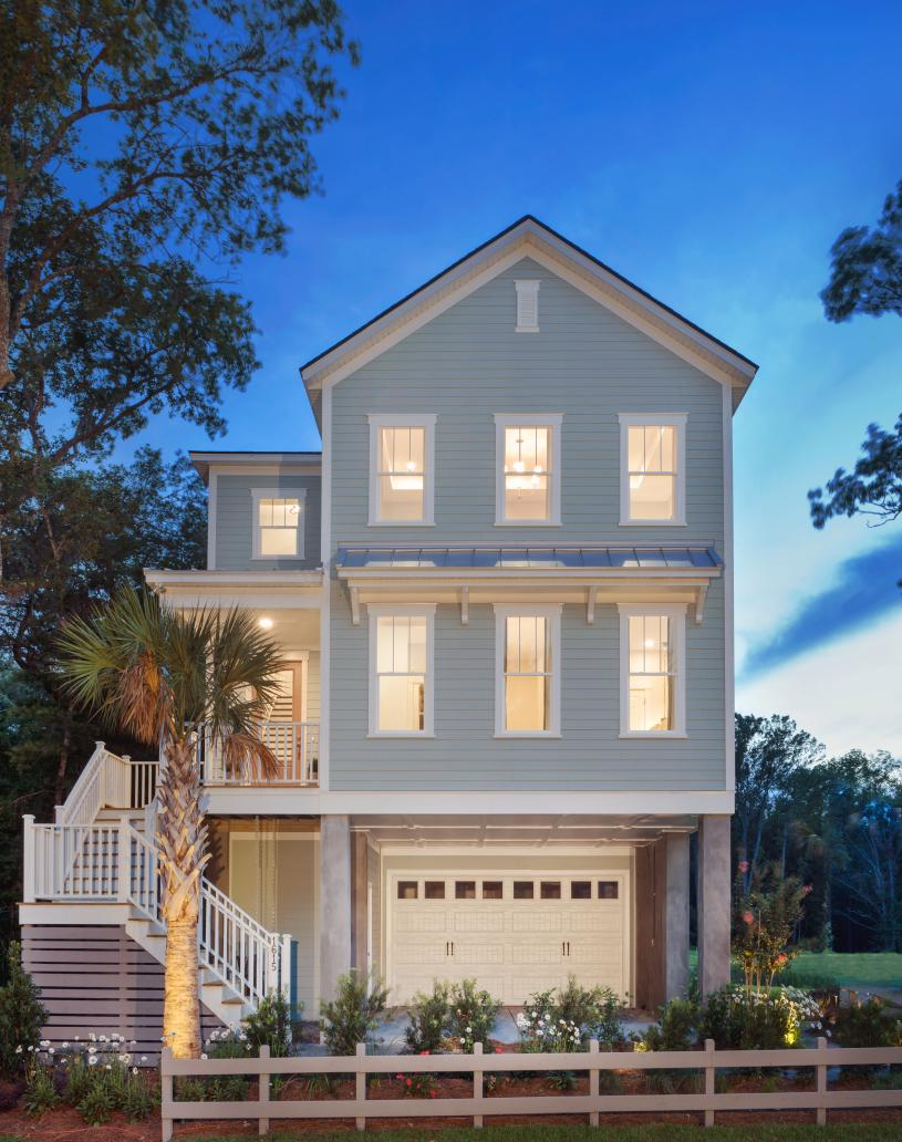 Charming elevated Lowcountry home designs