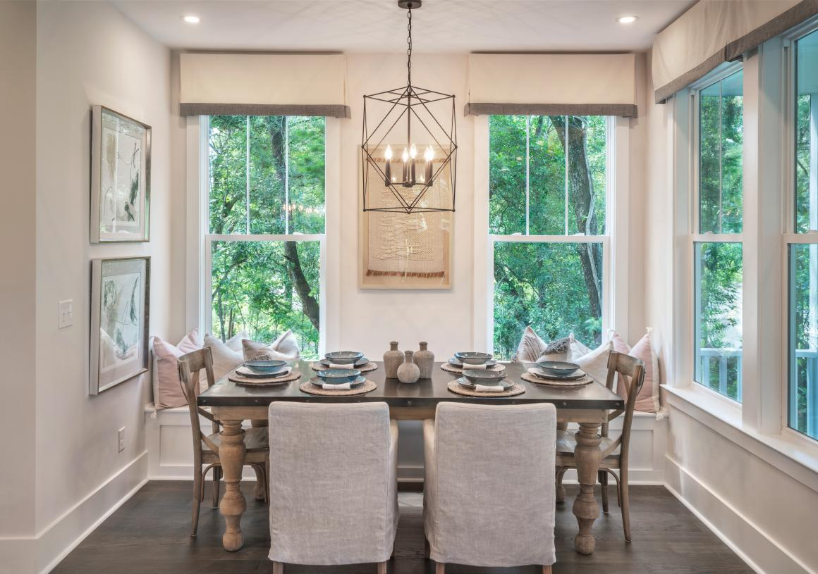 Beautiful casual dining area adjacent to the kitchen