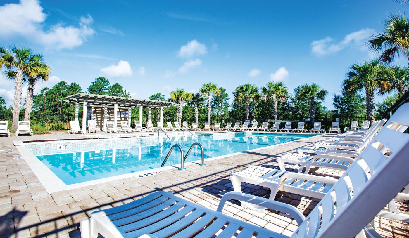 Future community pool for homeowners to relax and socialize