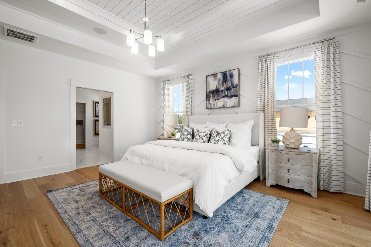 Spacious primary bedroom suite for ultimate relaxation