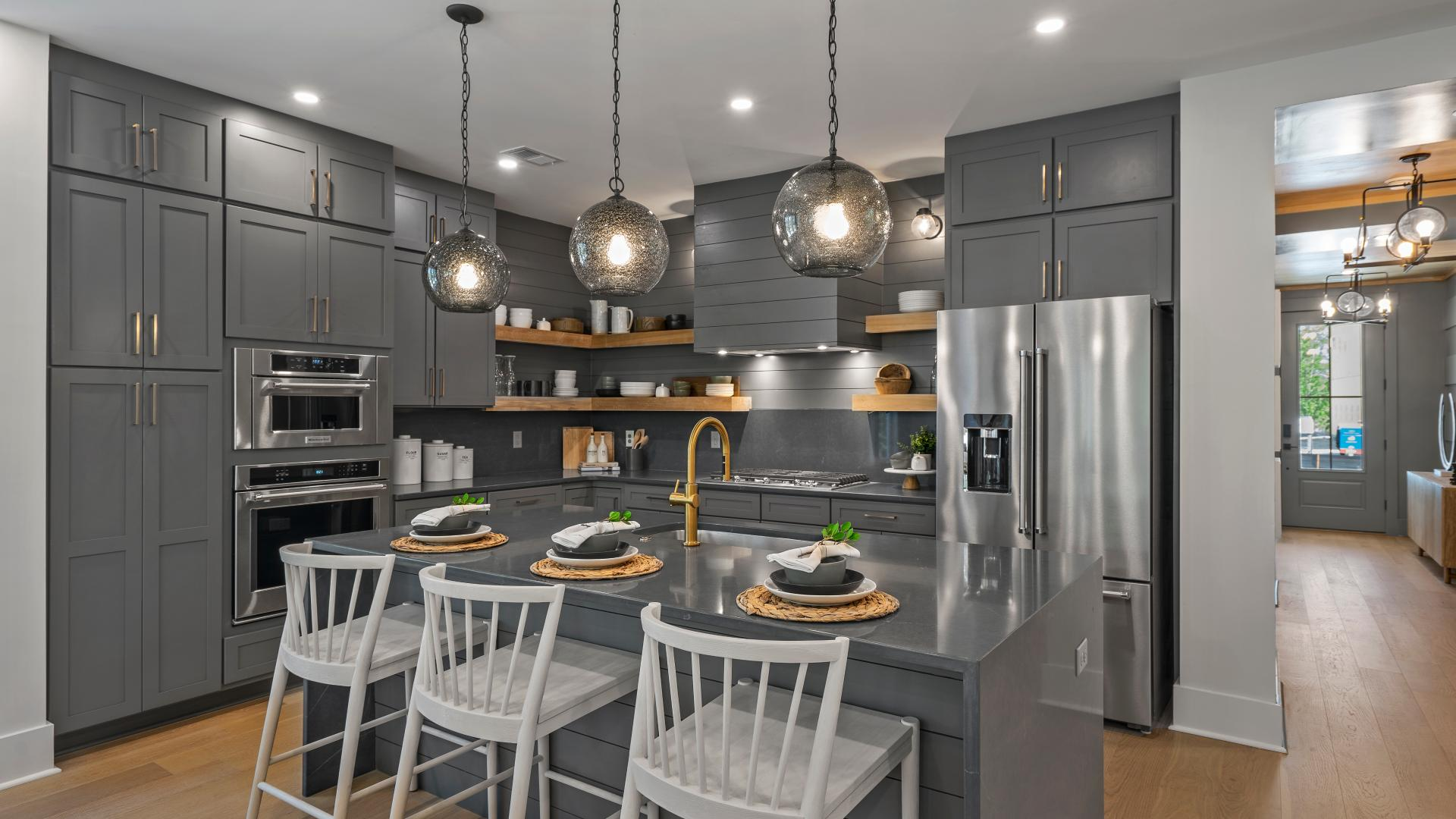 Stunning well-equipped kitchens with ample countertop and cabinet space