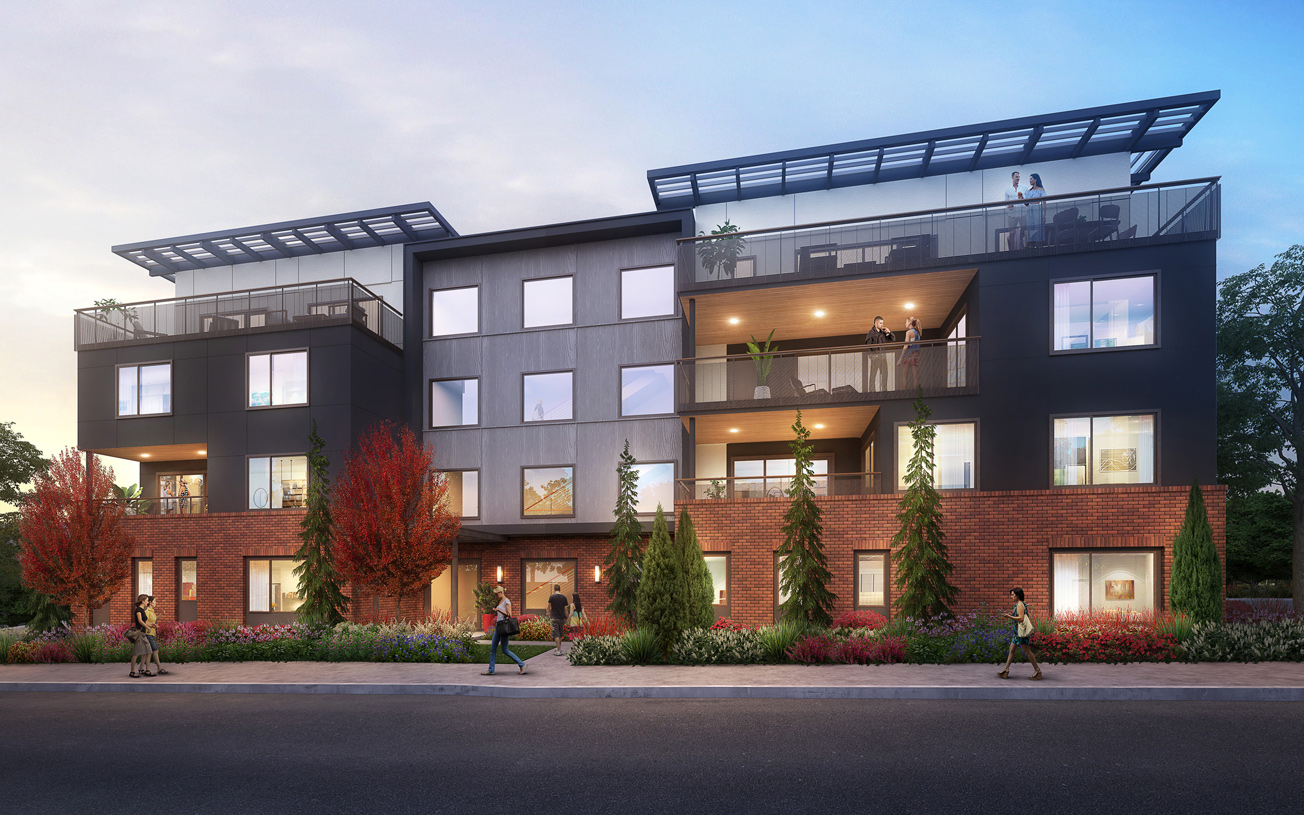 4-story buildings will feature contemporary architecture