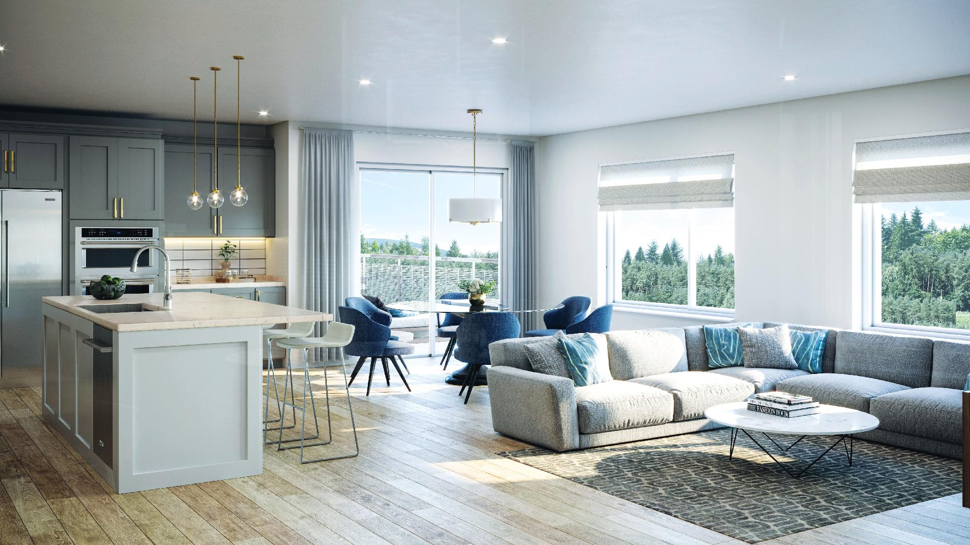 Bright, open concept living in the great room
