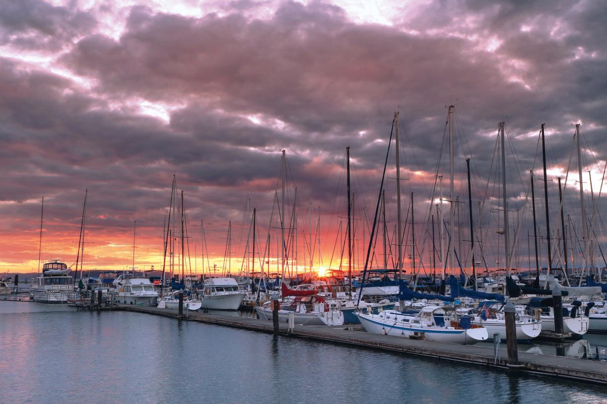 Enjoy sunset strolls along the Everett Waterfront