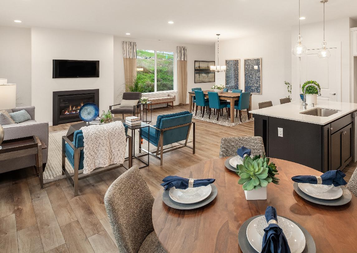 All homes will offer open concept floor plans
