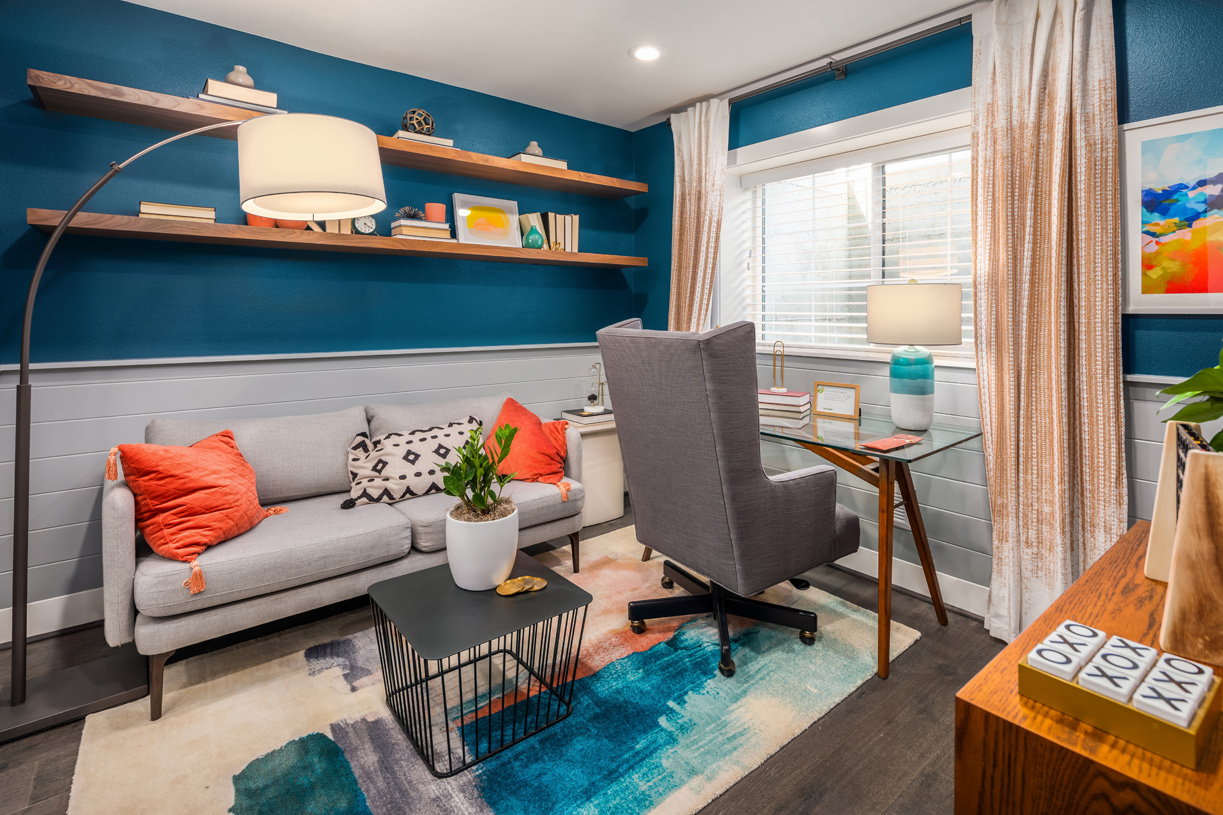 Select homes have a dedicated office space
