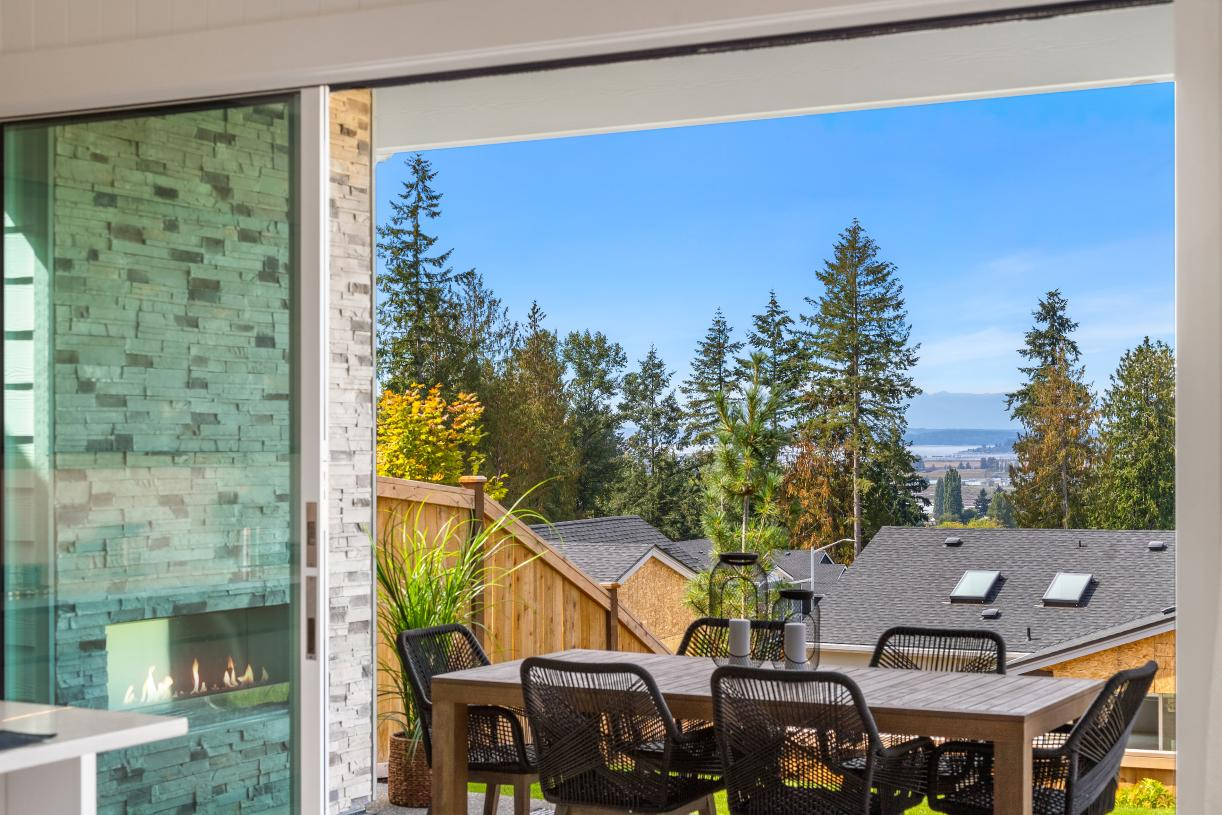 Enjoy westerly views of Puget Sound and the Olympic Mountains