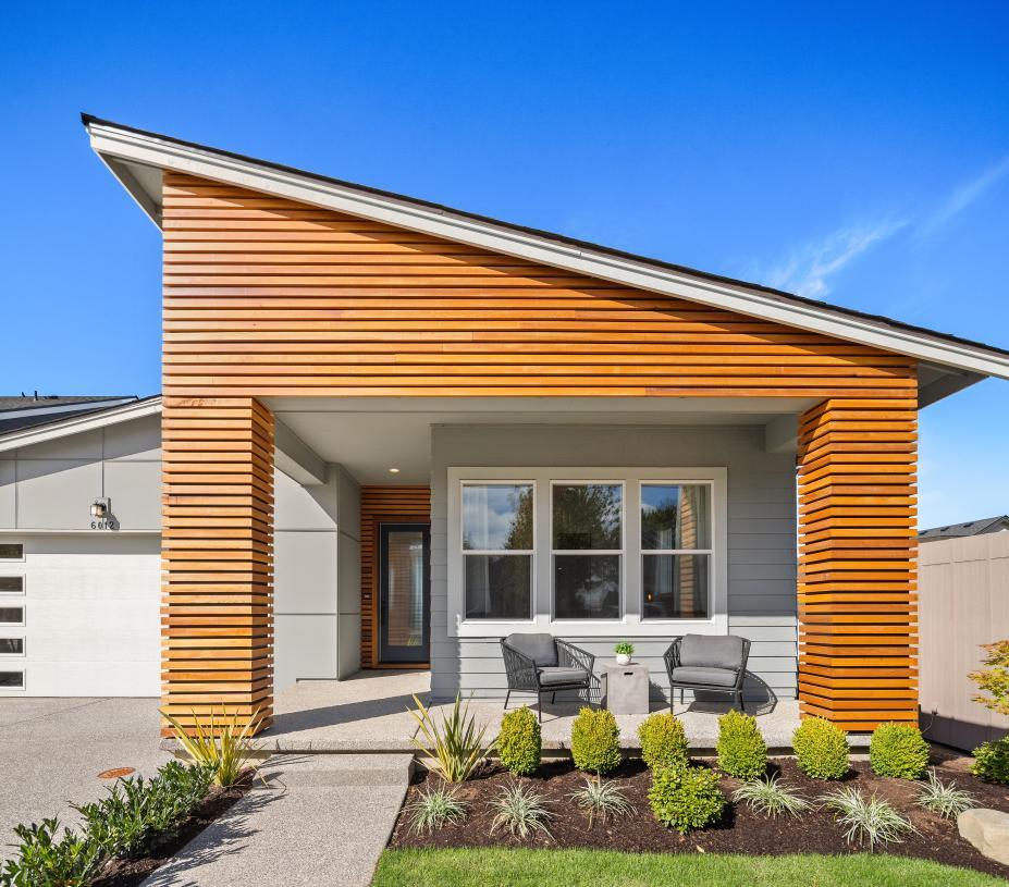 Striking cedar details on this modern home